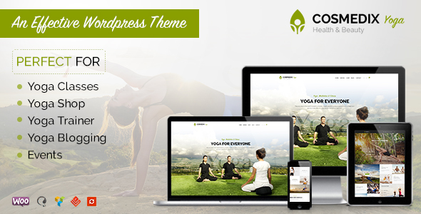 Cosmedix – Health Beauty & Yoga WordPress Theme