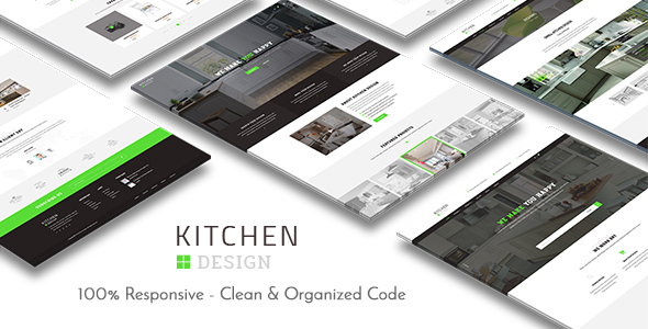 Kitchen Design – HTML Responsive Template