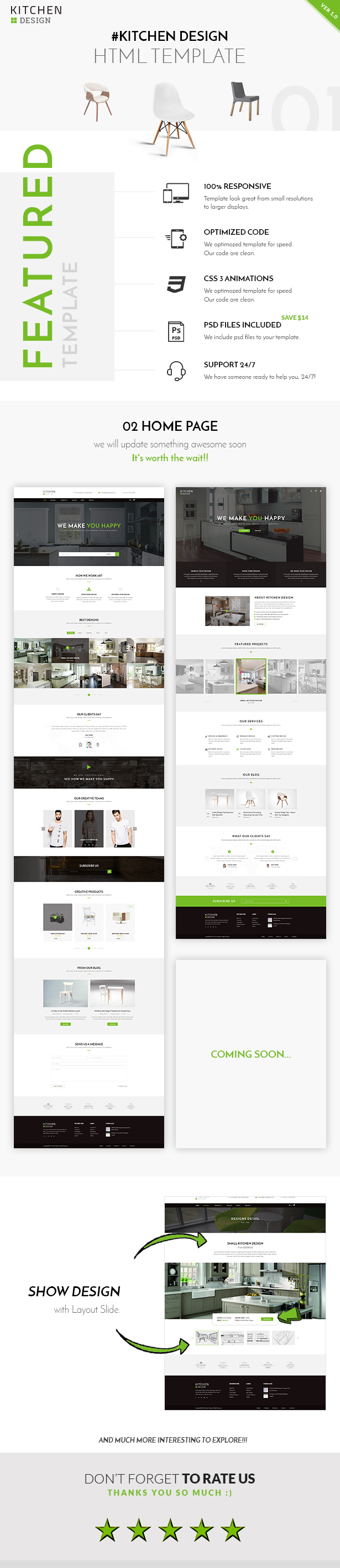 Kitchen Design HTML Responsive Template QTC Media - Html site template