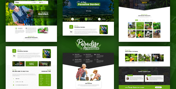 Paradise Garden – Gardening and Landscaping HTML Template